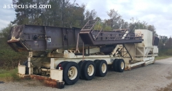 "#1010 Astec 100 Ton Self-Erect Bin w/36"" Drag Conveyor"